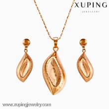 62464-Xuping Gold Jewelry Set 18K Plaqué Or Bijoux Promotion